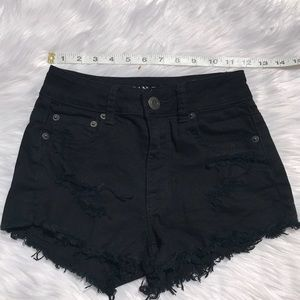 American Eagle Outfitters Shorts - American Eagle Black Distressed Bohemian Shorts 00